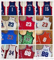 Authentique Real Coutshed Retro All-Star 88 Jerseys de basketball AApe Vintage 1 Tracy 3 Allen McGrady Iverson 15 Vince 34 Shaquille Carter Oneal Jersey