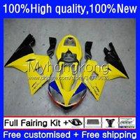 Fairings Kit For Triumph Daytona600 Daytona 650 600 CC 600cc 650cc 02-05 Body 10No.19 Daytona650 02 03 04 05 Daytona 600 2002 2003 2004 2005 Yellow black ABS Bodywork