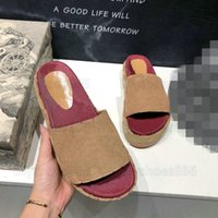 Damen Angelina Hausschuhe -Details beschichtete Leinwandplattform Sandalen Designer Slipper Slide Sommer Bunte Patentmonogramme Leder Flip Flop C79Z