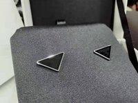 2021 Новое Прибытие Треугольник Серьги Серьги Серьги Темперамент Мода Перевернутый треугольник Письмо ушные зажимы Бесплатная Доставка