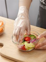 100 teile / tasche PE Polyethylen Einweg-transparente Handschuhe Lebensmittelqualität Kunststoffhandschuhe Catering Schönheit verdickte Einweghandschuhe 122 V2