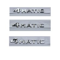 Chrome 4 M A T I C Shiny Silver ABS Trunk Rear Number Letters Words Badge Emblem Emblems Decals Sticker for Mercedes-Benz 4MATIC