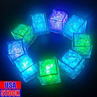 LED Cubos de hielo Luces Parpadeando Luz sumergible para arriba ROCAS PARA EL CLUB DE BARRA Fiesta de bodas Evento de regalo Torre de Champagne Decoración
