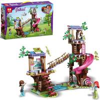 Leduo 7011 Girls 'Blide Block Block Toy Jungle спасение приключений Дерево Дом Маленькая частица