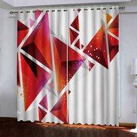 3D Window Занавес Геометрия Геометрия Шторы для гостиной Спальня Кухонные украшения Cortinas Drapes