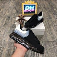 Top Quality 2021 Fashion Mens Donne Scarpe Donne di Prestigio Desinger Scarpe in pelle Pizzo Pianta Up Platform Oversize Sole Sneakers Bianco nero Scarpe casual