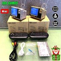 Retro Bookshelf TV Game Console GV300 3.0 Display Screen Classic 2.4G Bluetooth Wireless Controller Bulit-In 108 Games Nice Gift