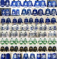 2021 Reverse Retro Toronto Maple Leafs 91 John Tavares 34 Auston Matthews 16 Mitchell Marner Frederik Andersen Morgan Rielly Hockey Jerseys