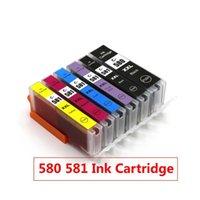 Ink Cartridges 5PCS 580 581 Cartridge Replace For Canon PGI580 CLI581 TS6150 TS6151 TR7550 TR8550 TS8150