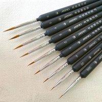 5 قطع خط رسم القلم مصغرة الطلاء فرشاة مجموعة المهنية النايلون الاكريليك اللوحة رقيقة هوك الأقلام الفن اللوازم رسمت باليد