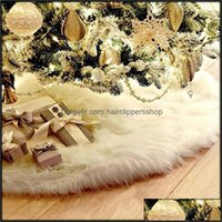Festive Party Supplies Home & Garden78Cm 90Cm 122Cm Skirt Pure White Long Hair Christmas Day Decorations Upscale Family Tree Decor Year Fest