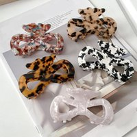 Hair Accessories Fashion Bowknot Butterfly Simple Claw Women Girl Acetate Clip Crab Clamp Hairgrip Hairpins Temperament Acces