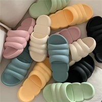 Luxury designer leather ladies sandals summer flat shoes fashion beach women slippers H letter drag 35-42