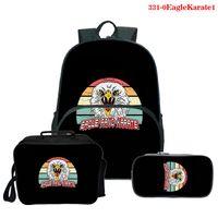 Рюкзак мода моды унисекс 3d печатание набор орла фанг каратные классные школьные сумки книги для подростка девушки мальчики сумки путешествия рюкзаки