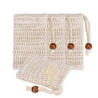 1 قطعة موضة لطيفة الطبيعية رامي دش مقشر الإسفنج الحقيبة مريحة نفطة شبكة الصابون توفير حقيبة رغوة صافي 3.58