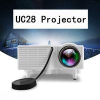 UC28 + Projektor Mini LED Portable Theatre Video Projektor PCLAptop VGA / USB / SD / AV mit Einzelhandelspaket