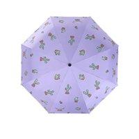 Umbrellas Automatic Umbrella Rain Women Lovely Folding Windproof Black Coating Anti UV Parasol Women's