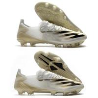 أحذية رجالي لكرة القدم إعلانات x ghosted + fg ag juffight الأحذية البيضاء المعدنية الذهب الأساسية الأسود قبل الطلب x ghosted.1 ftwwht cookcer cleats