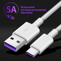 Cell Phone Cables 5a usb tipo c cabo para for huawei p40pro companheiro 30 p30 pro supercharge 40w carregamento rápido USB-C do carregador