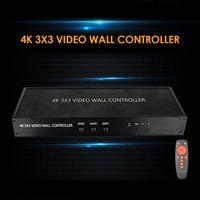 4K 3x3 Controller murale video 1 ingresso 9 Schermata di uscita Splicing HD TV Splicer Visualizzazione Visualizzazione del processore di cucitura