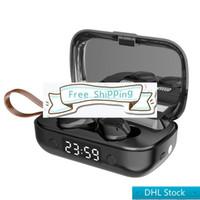Stok DHL ücretsiz kargo A13 kablosuz kulaklık bluetooth kulaklıklar T-WS 5.1 led ekran kulaklıklar perakende kutusu ile stereo spor kulaklıklar