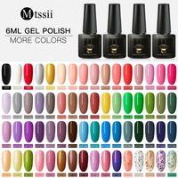 Nail Gel Mtssii 6ml Pure Color Polish Manicure Semi Permanent Top Coat UV Led Varnish Soak Off Art