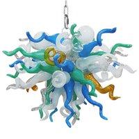Art Deco Elegant Pendant Lights Lamps Hand Blown Glass Murano Chandeliers Bedroom Living Room Decoration