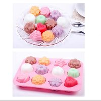 Craft Tools 1pcs Cake Baking Mould Flower Shaped Silicone DIY Handmade Candle Soap Moulds Mold Kitchen Making