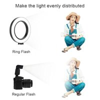 Cell Phone Mounts & Holders LED Ring Light Tripod Camera Pography Dimmable Selfie Video With Holder KQS8