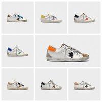 أحذية رياضية سوبر ستار الكلاسيكية الترتر بالأسى العلامة التجارية الإيطالية الترتر الأحذية القذرة مصمم الرجال والنساء الأحذية عارضة زائد مربع 10