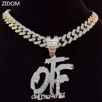 Collane pendenti Uomo Donna Hip Hop Solo la collana di lettere di famiglia con la catena cubana di 13mm Miami Cuban ha ghiacciato Bling Hiphop Jewelry