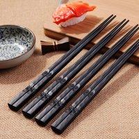 Chopsticks 1 Pair Japanese Non-Slip Durable Alloy High Quality Portable Sushi Chop Sticks Set Chinese Chopstick Learner Gift