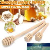 50 Pack Of Mini Wooden Honey Dipper Sticks Server For Honey Jar Dispense Drizzle Spoon Dip Drizzler 8 10 16cm
