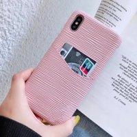Moda Deluxe Cep Telefonu Kılıfları iphone 12 11 Pro Max XS XR XSMAX En Kaliteli Deri Kart Tutucu Kapak Ile Metal Vlogo Fit Samsung Note20 Note10 S20 S10 Artı