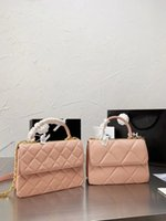 الكلاسيكية زهور الفاخرة المصممين cc قناة النساء حقائب الوردي حقيبة يد نسبة الأصلية جودة عالية البقر رسول سلسلة الكتف crossbod