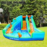 Source manufacturer entertainment children's Inflatable Bouncers castle trampoline water jet climbing indoor and outdoor amusement equipment double slide