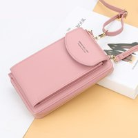 School Bags 2021 Women Wallet Cell Phone Big Card Holders Handbag Purse Clutch Messenger Shoulder Long Straps Drop