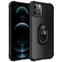 Armure antichoc TPU Clear Clear Clear Clear Coffres de téléphone acrylique Difficile pour iPhone 12 PRO XS Max Samsung S21 Note 8 avec porte-bague en rotation