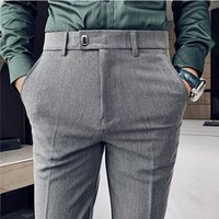 Men's Suits & Blazers Suit Pants Formal Small Feet Slim Straight Leg Fashion Casual Clothing Dress Full Length