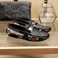Scarpe formali per uomo in vera pelle di modo, scarpe da uomo a punta, scarpe Brock Oxford, Designer lace-up Scarpe da uomo 38-44