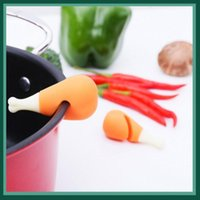 Mats & Pads 2PC set Spill-proof Pot Lid Rack Silicone Heat-resisting Overflow Stoppers Cover Lifter Creative Durable Kitchen Tools