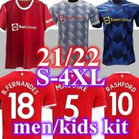 21 22 Manchester Fussball Jersey 2021 2022 United Sancho Pogba Cavani Utd van de Beek B. Fernandes Rashford Greenwood Fußball Hemd Mann Kinder Kits Camiseta MAILLT