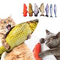 Haustier weicher Plüsch 3D Fischform Katze Bissbeständiger Spielzeug Interaktives Geschenk Fisch Katzenminze Spielzeug Gefüllte Kissen Puppe Simulation Fische Spielzeug Spielzeug