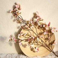 인공 체리 복숭아 꽃 가짜 실크 꽃 홈 웨딩 파티 꽃 장식