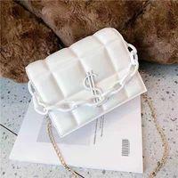 HBP 새로운 고품질 숙녀 패션 어깨 가방 클래식 가죽 플라스틱 체인 000