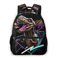 حقيبة ظهر ركس ريكس، الديناصور للبنات بنين سفر Rucksackackpacks حقيبة مدرسية في سن المراهقة