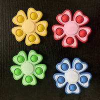 Push Bubble Fidget Spinner Toys Party Party Sensory Simple Dimple Спиннинг Топ Поппер Пузырьки Сжать пальцы Гиро для разложения рельефа стресса