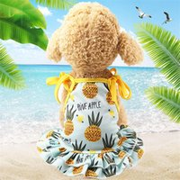 Dog Apparel Breathable Fruit Dress Skirt Pet Vest Chihuahua Yorkie Clothes Beach Couples Summer For Small Dogs Clothing 35