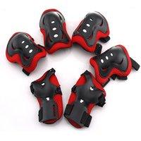 Cotovelo joelho almofadas 6 pcs crianças esportes ao ar livre engrenagem protetora guardas de pulso de rolos proteção de segurança1