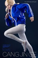In magazzino 16 Vestiti da soldato femminile Blue Sportswear Giacca sportivo Bianco Jeans Vestito adatto per pH jo